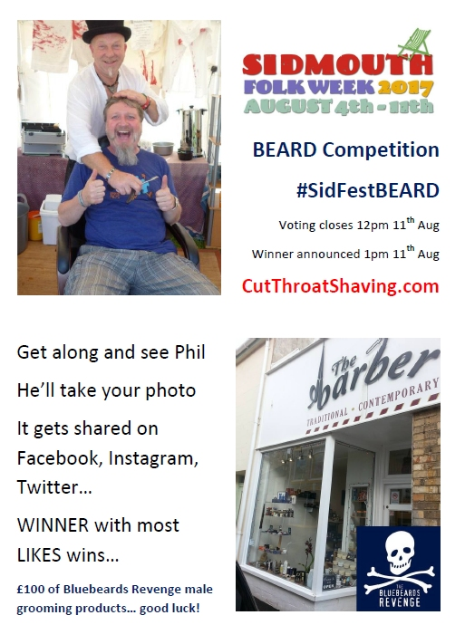 sidmouth folk festival beard competition 2017